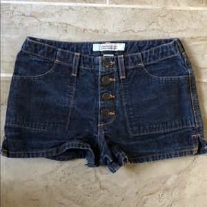 Abercrombie Girls Button Fly Denim Shorts 12